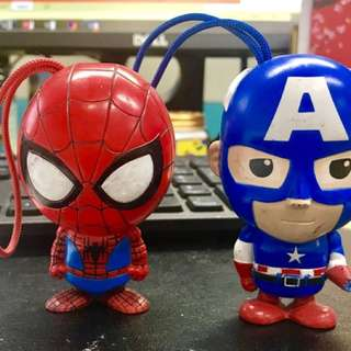 Spider-Man & Captain America Figurines