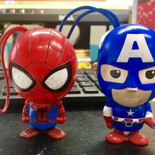 Spider-Man & Captain America Figurines