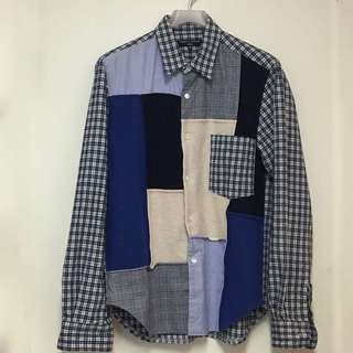 全新 Comme des Garçons patchwork shirt XS size