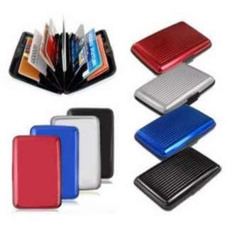 Aluminum Credit Card Holder Anti Scan Theft (Color Send Out Randomly)  Back