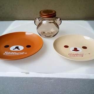 Rilakuma Plate and jar