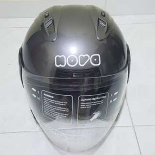 2002***NOVA GLOSSY GREY Helmet For Sale 😁😁Thanks To All My Buyer Support 🐇🐇 Yamaha, Honda, Suzuki