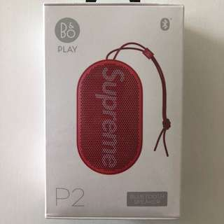 Supreme B&o Play Bang & Olufsen P2 Wireless Bluetooth Speaker Red Fw17
