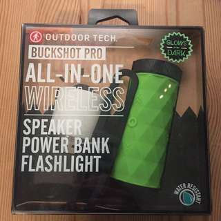 ALL-IN-ONE wireless speaker/power bank/flashlight by outdoor tech