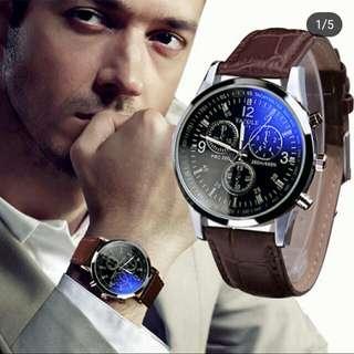 Clock Fashion Leather Belt Watch