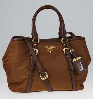 Prada BN1841 Tessuto Nylon Convertible Satchel Bag