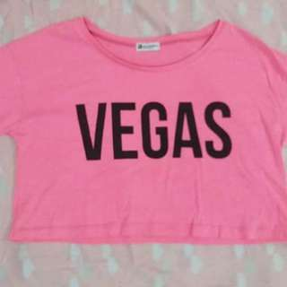 Pre-loved pink crop top