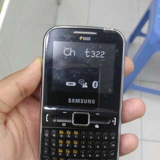Samsung Duos Chat 322, Dual Sim, Good Condition, With Charger only.