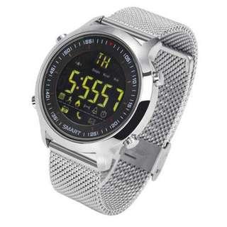 Luminous Dial Pedometer Bluetooth Fitness Smart Steel Watch
