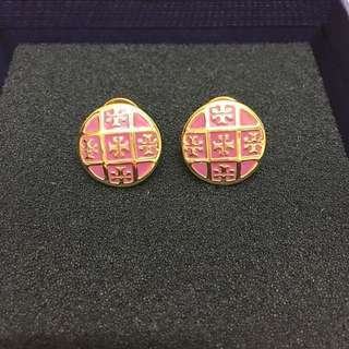 Tory Burch Enameled gold-plated earrings