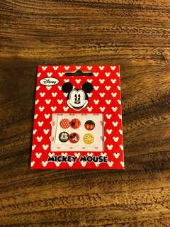 Mickey Mouse button sticker