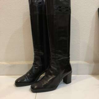 Women's vintage leather boots Gucci
