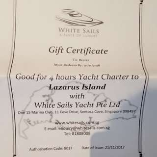 White sails Gift certificate