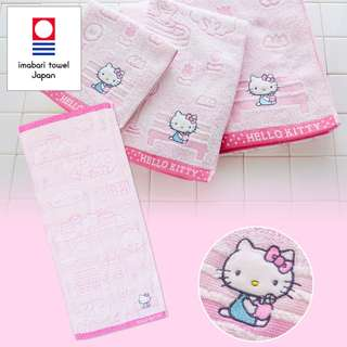 Japan Sanrio Hello Kitty Imabari Face Towel