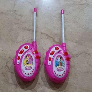 Mainan walkie talkie princess