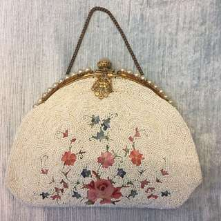 Pre 1920 vintage French embroidered bag