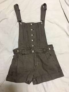 Brown Maong Overalls/Jumper Shorts