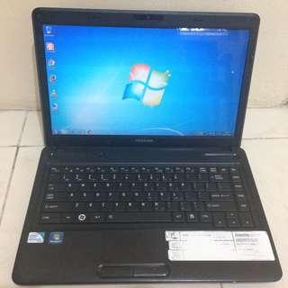 Laptop Pelajar Toshiba C640 Siap Pakai