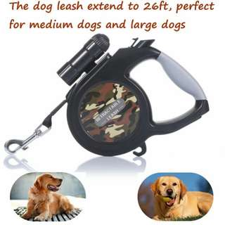DOHOT Retractable Dog Leash 9 LED Detachable Flashlight,Heavy Duty 8m