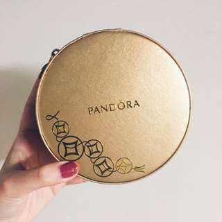 Pandora gold jewellery box