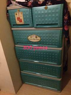 Bed,foam and plastic cabinet FOR SALE