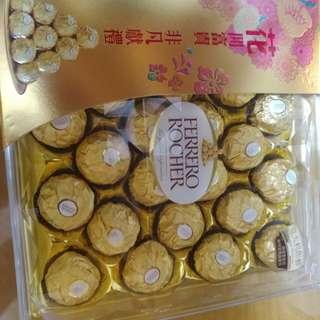 金莎禮盒裝24粒裝(有2盒)