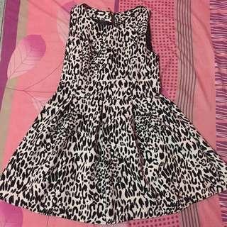 Dress white leopard