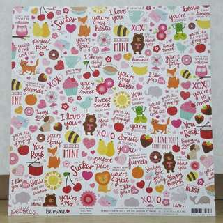Pebbles 'Be Mine: Be Mine' Scrapbooking Paper