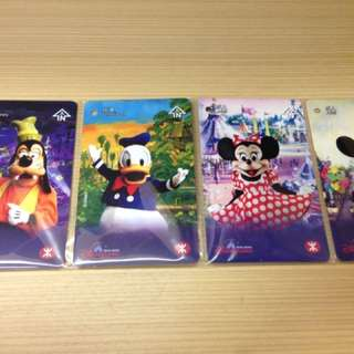 MTR Disneyland Resort Line Commemorative Tickets (Set of 4)