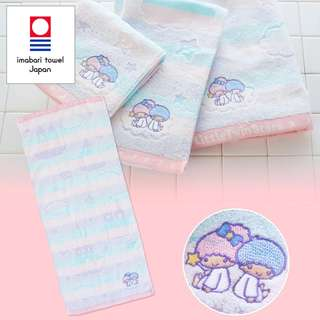 Japan Sanrio Little Twin Stars Imabari Face Towel