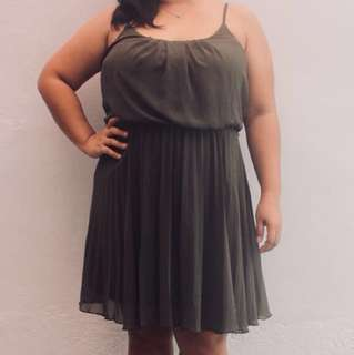 Moss Green Dress (XL)