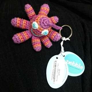 pebble-Octopus keychain