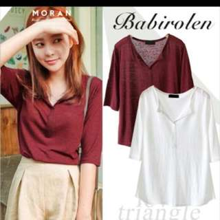 Maroon Korean shirt