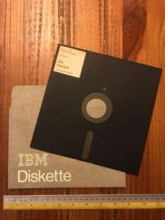 Antique 8 inch floppy disk IBM 1971 – early 1980s