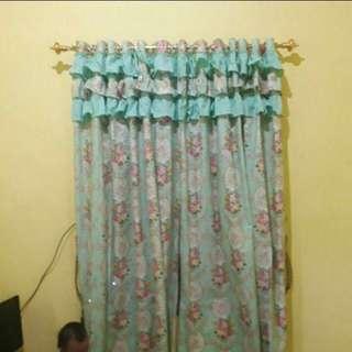 Horden shabby chic pintu atau cendela