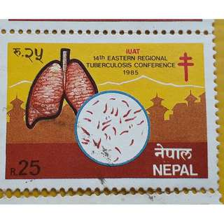 NEPAL - 1985 - IUAT - 14th EASTERN REGIONAL TUBERCULOSIS CONFERENCE Commemorative Stamp - 6 pcs LOT - MINT MNH