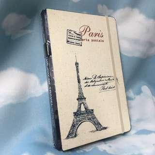 巴黎鐵塔 帆布筆記本
