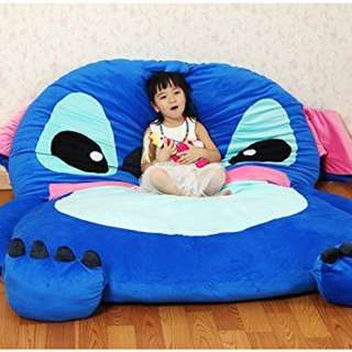 Blue Stitch Soft Bed