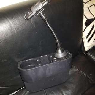 Cup holder insert c/w handphone holder