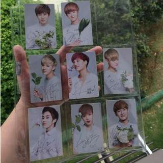 EXO NATURE REPUBLIC OFFICIAL PHOTOCARD