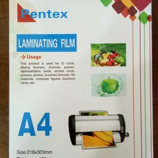 A4 Laminating Pouch 100s/box 100mic.