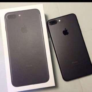 Iphone 7 Plus matt black 32gb for sale