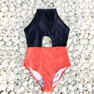 Orianna Two Tone Open Design One Piece Swimwear