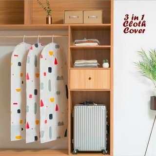 Set 3 Cover/Sarung Jas/Baju Anti Debu Motif Geometri Warna