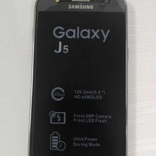 Samsung J5, New With Box Charger And Hands-free.