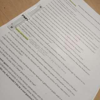 Julius Caesar Study Notes Set