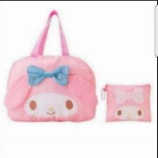 In Stock My Melody Design Travelling Bag Shoulder Bag Foldable Bag