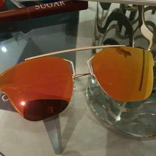 Orange Tinted Sunglasses with Box