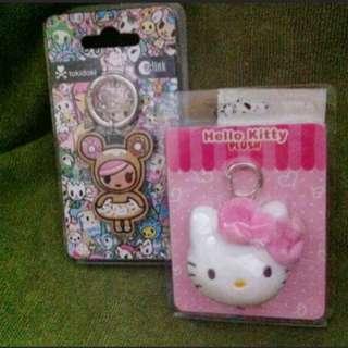 Hello Kitty Ezlink Charm And Tokidoki Ezlink Charm