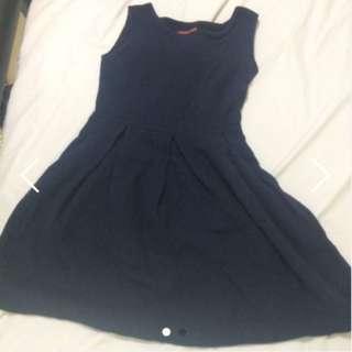 FLASH SALE- NAVY DOLL DRESS